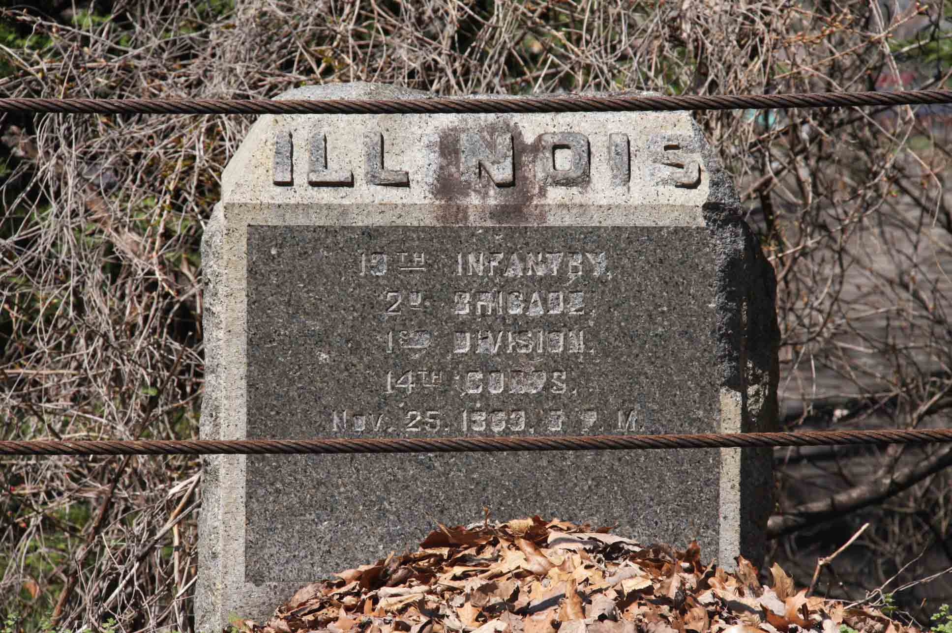 19th Illinois Infantry Regiment Marker, click photo to enlarge.