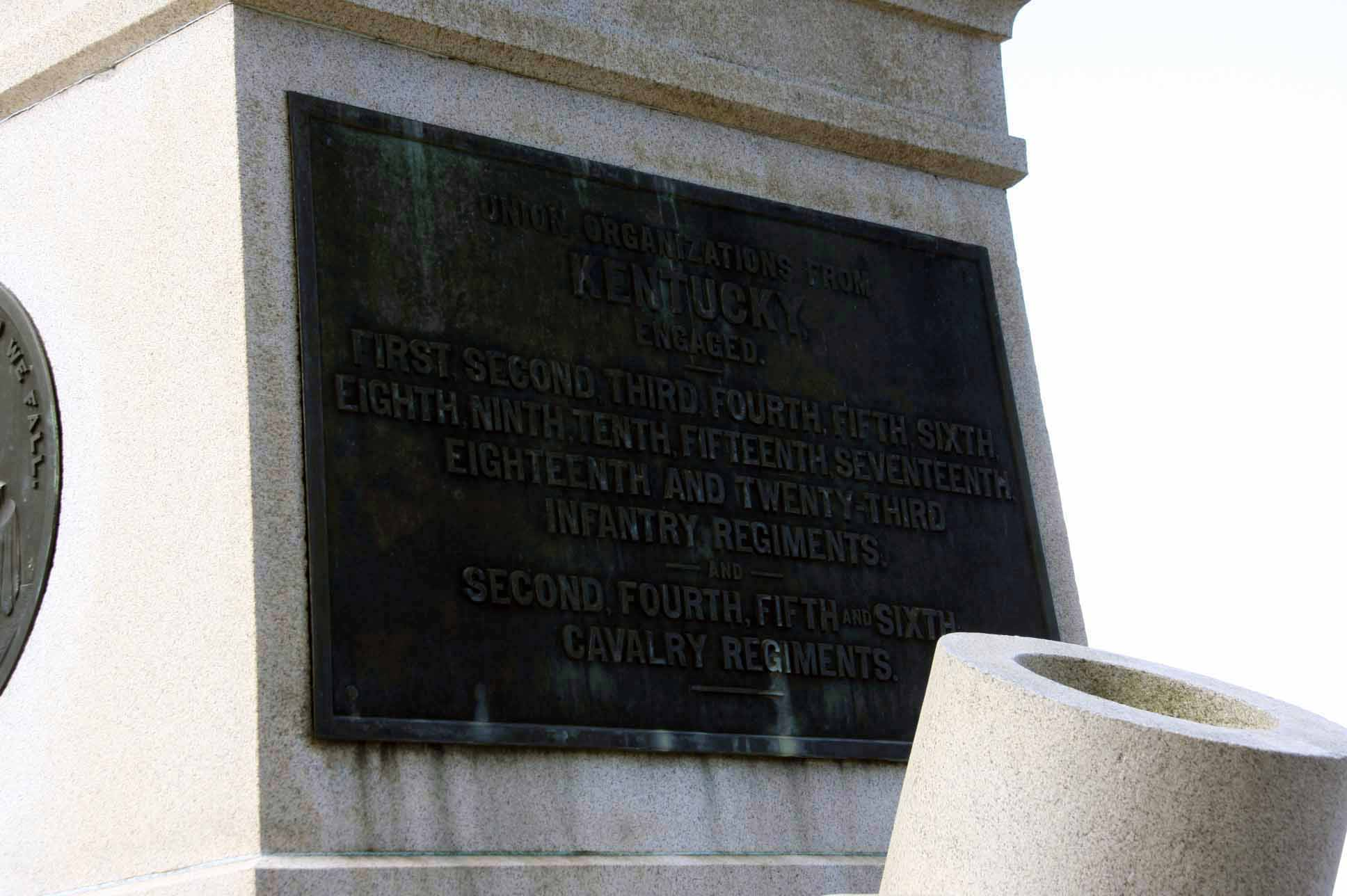 Kentucky State Monument (left - Union), click photo to enlarge.