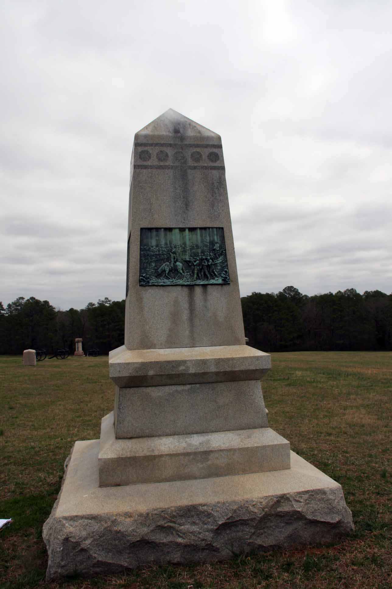 65th Ohio Infantry Regiment Monument (rear), click photo to enlarge.